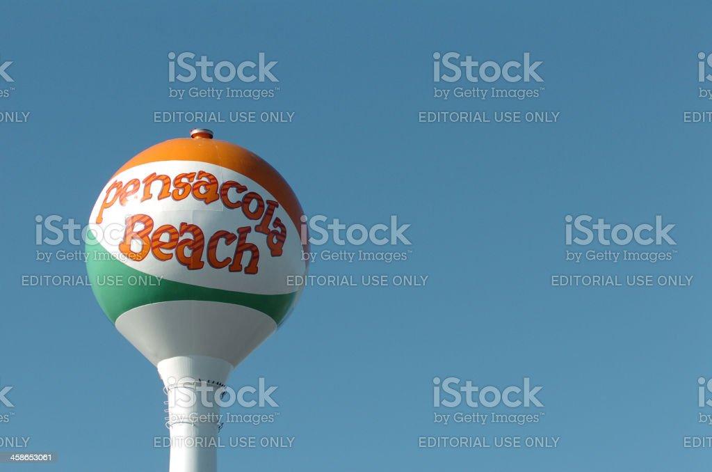 Pensacola Beach Ball Water Tower stock photo