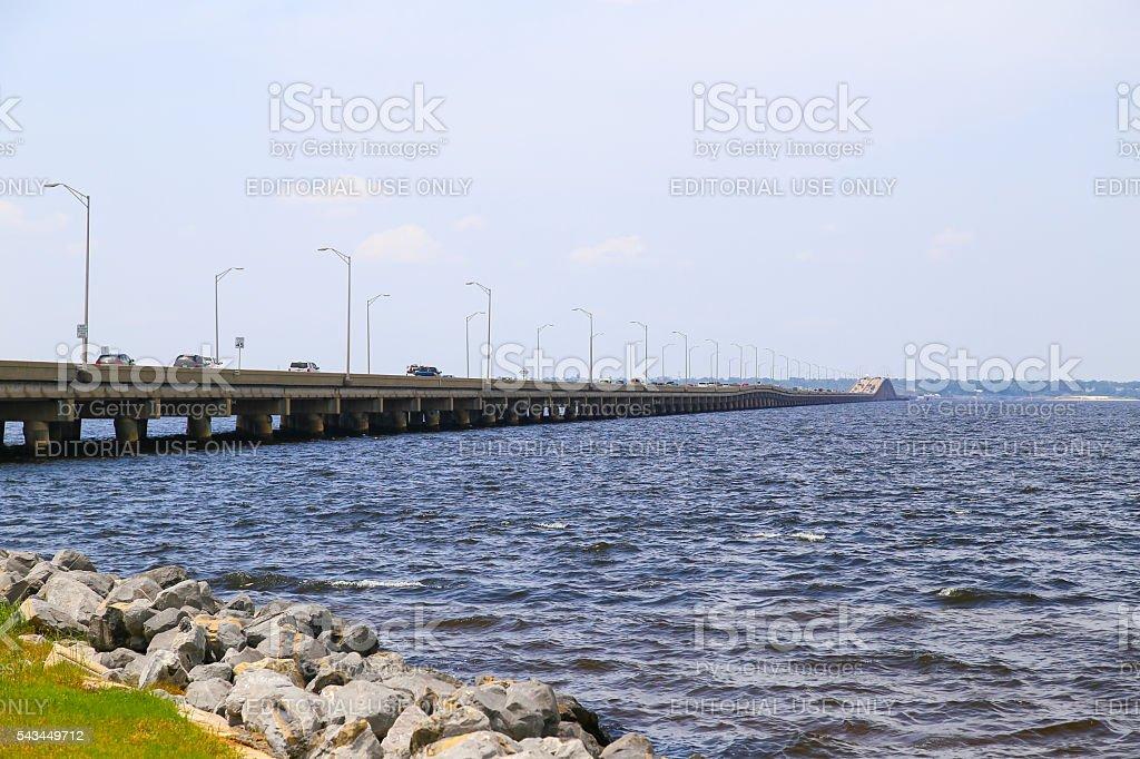 Pensacola Beach Bridge stock photo