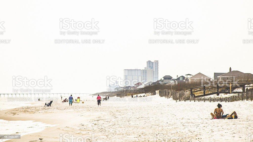 Pensacola Beach. stock photo