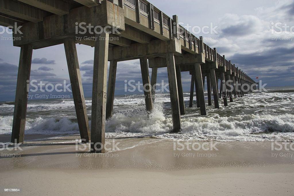 Pensacola Beach Pier stock photo