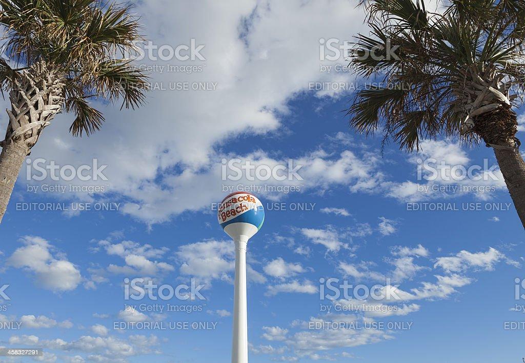 Pensacola Beach Water Tower royalty-free stock photo
