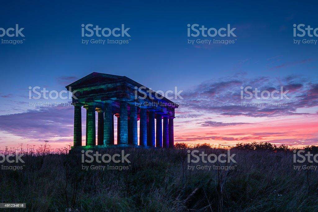 Penshaw Monument at Dusk stock photo