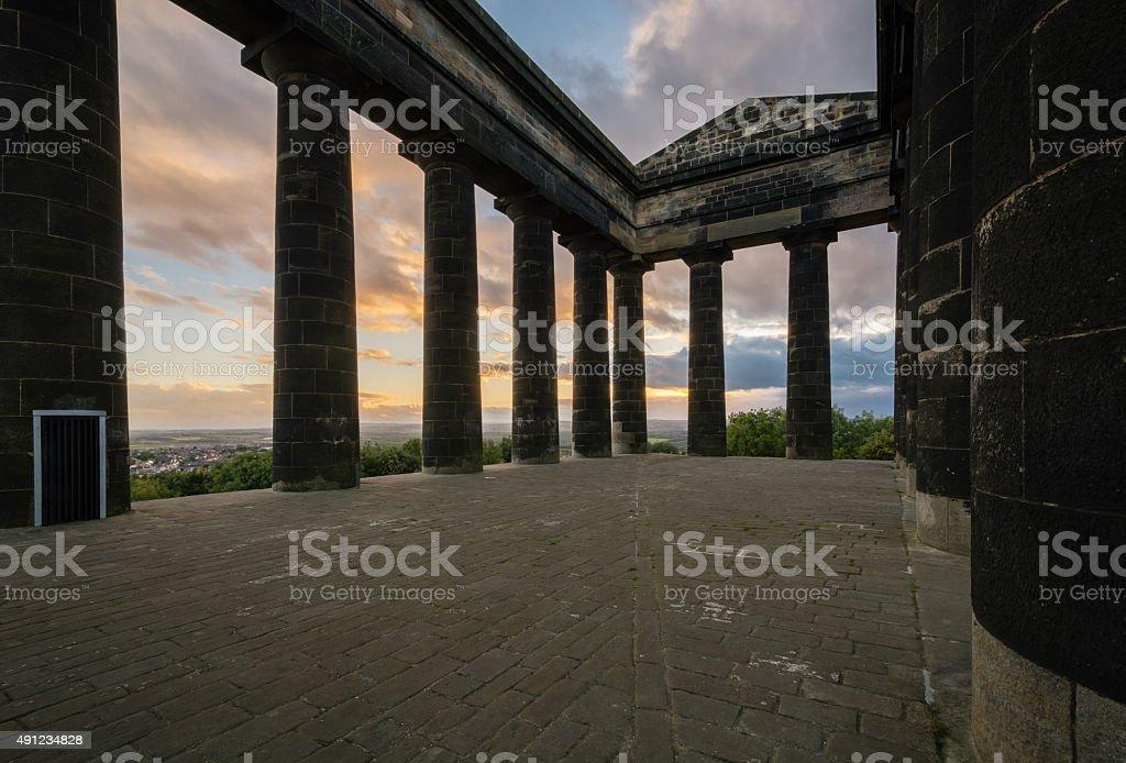 Penshaw Monument Interior stock photo