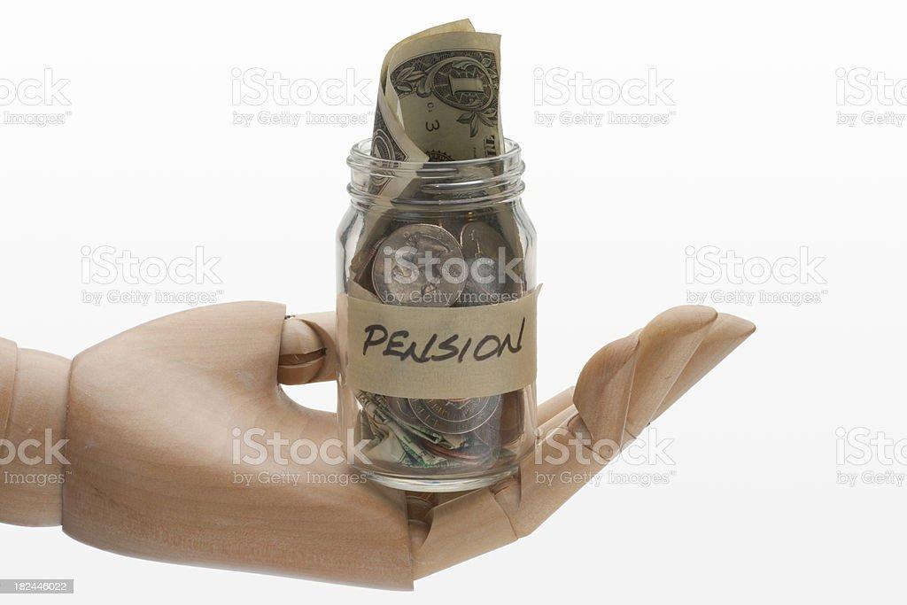 Pension Money Jar Horizontal United States stock photo