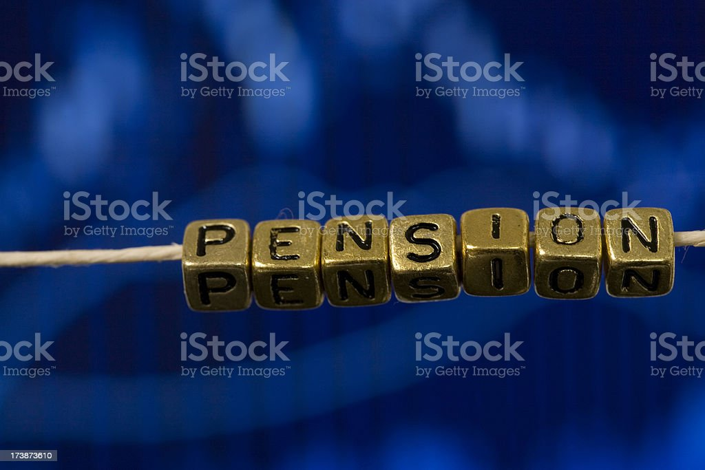 Pension on a string royalty-free stock photo