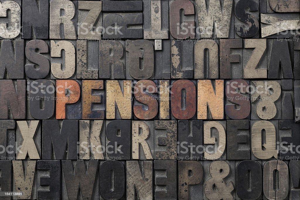 Pension royalty-free stock photo