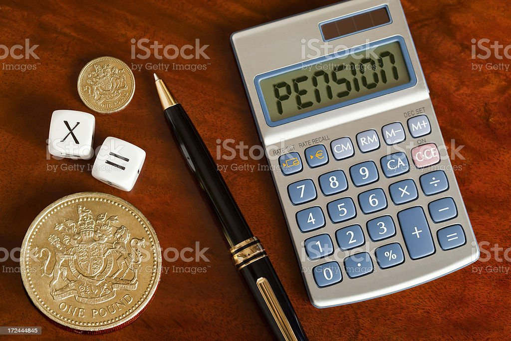 UK Pension stock photo