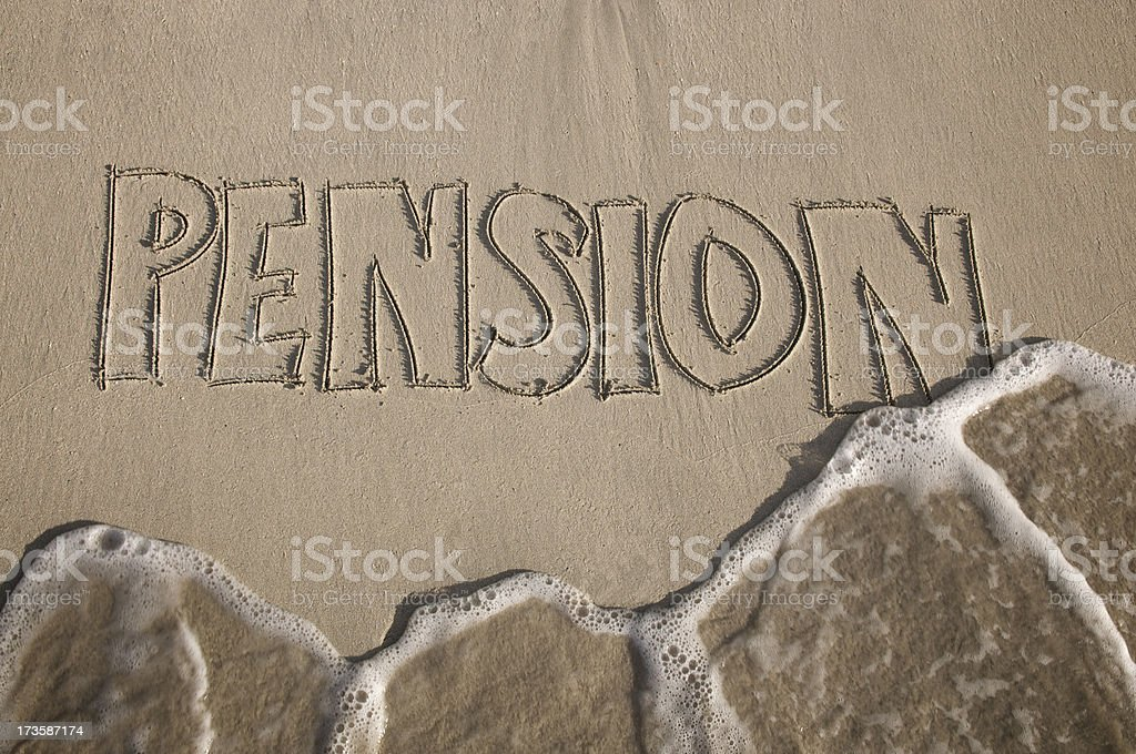 Pension Washout Financial Crisis in the Sand royalty-free stock photo