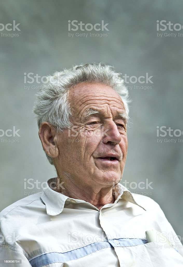 Pensioner portrait royalty-free stock photo