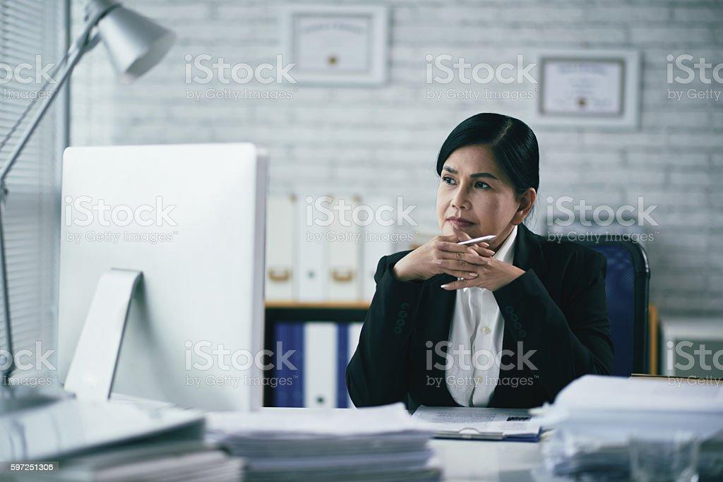 Pensive attorney stock photo