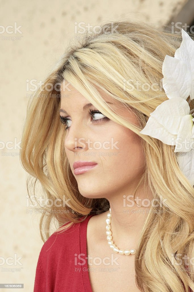 Pensive Blond royalty-free stock photo
