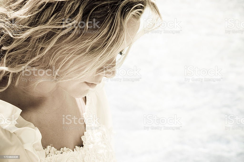 Pensive Bride royalty-free stock photo
