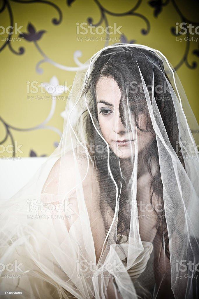 Pensive Bride royalty-free stock photo