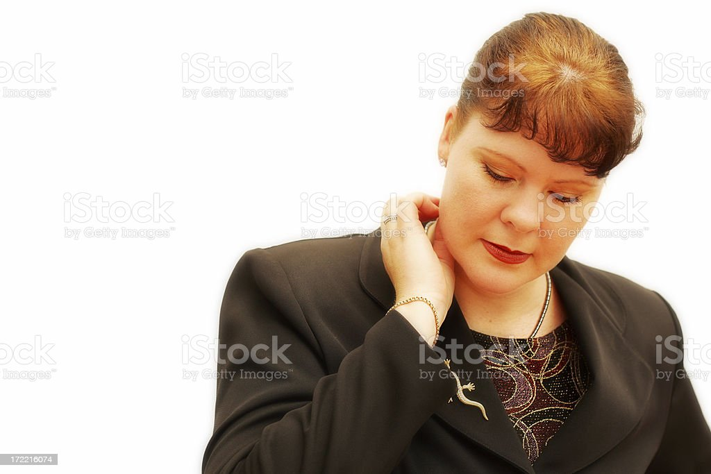 Pensive Business Woman stock photo