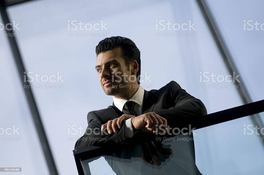 pensive businessmen royalty-free stock photo