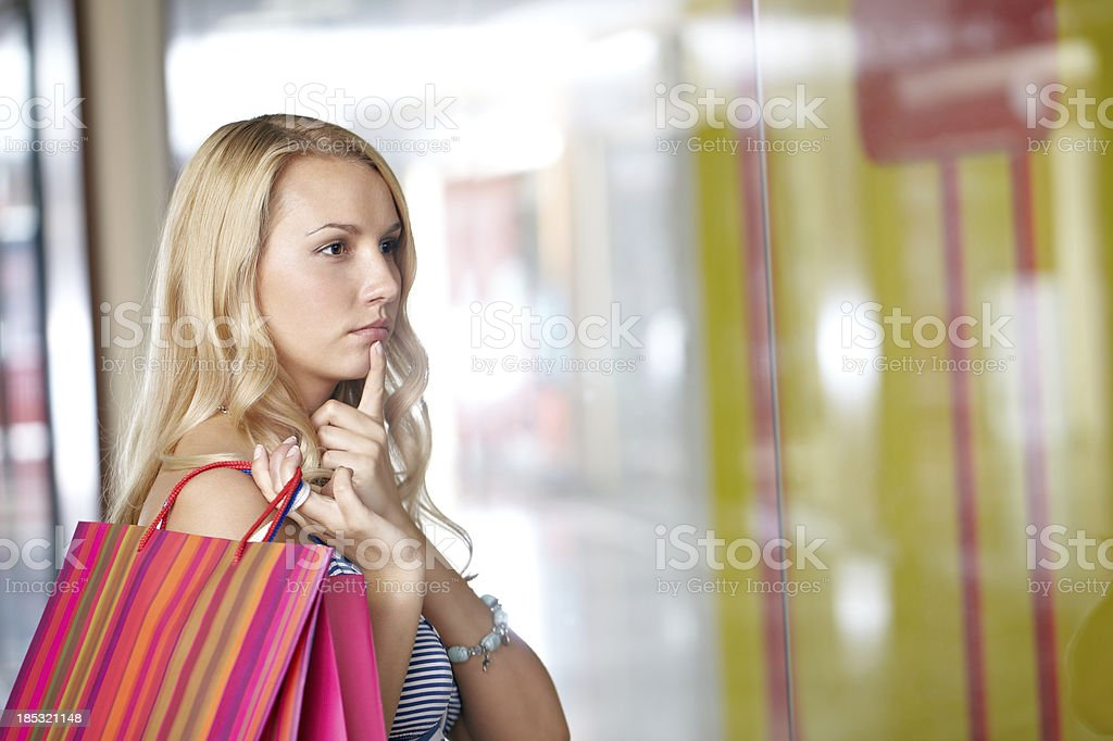 Pensive customer royalty-free stock photo