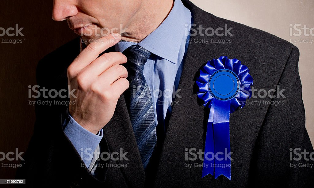 Pensive Election Candidate stock photo