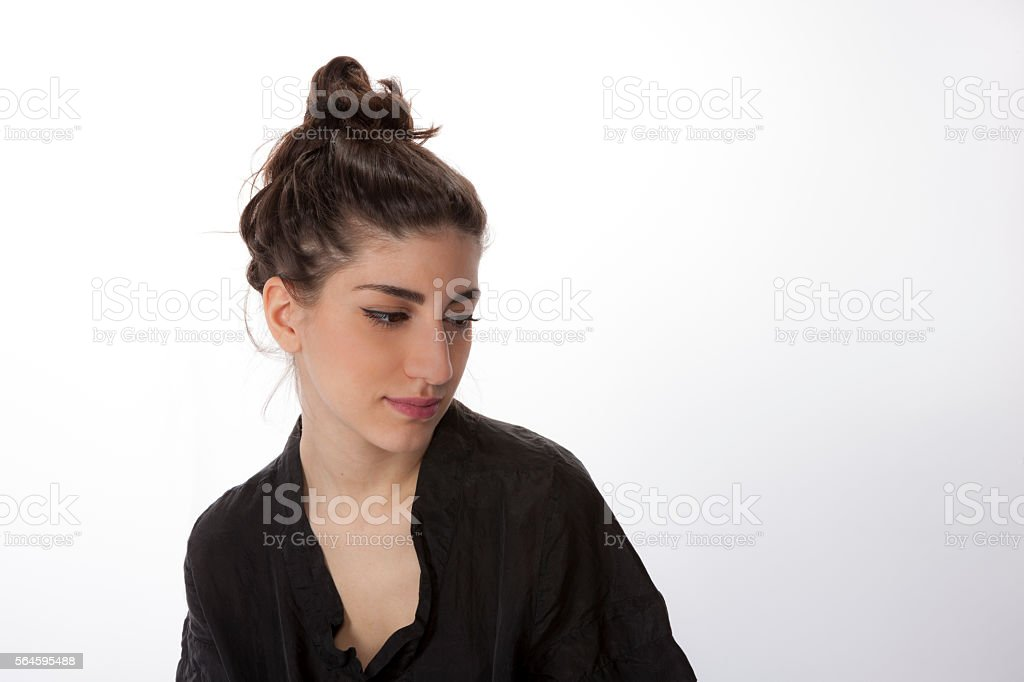 Pensive Girl stock photo