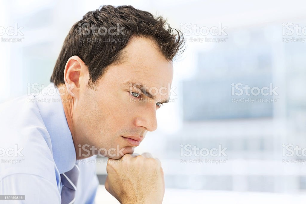 Pensive Male Executive royalty-free stock photo