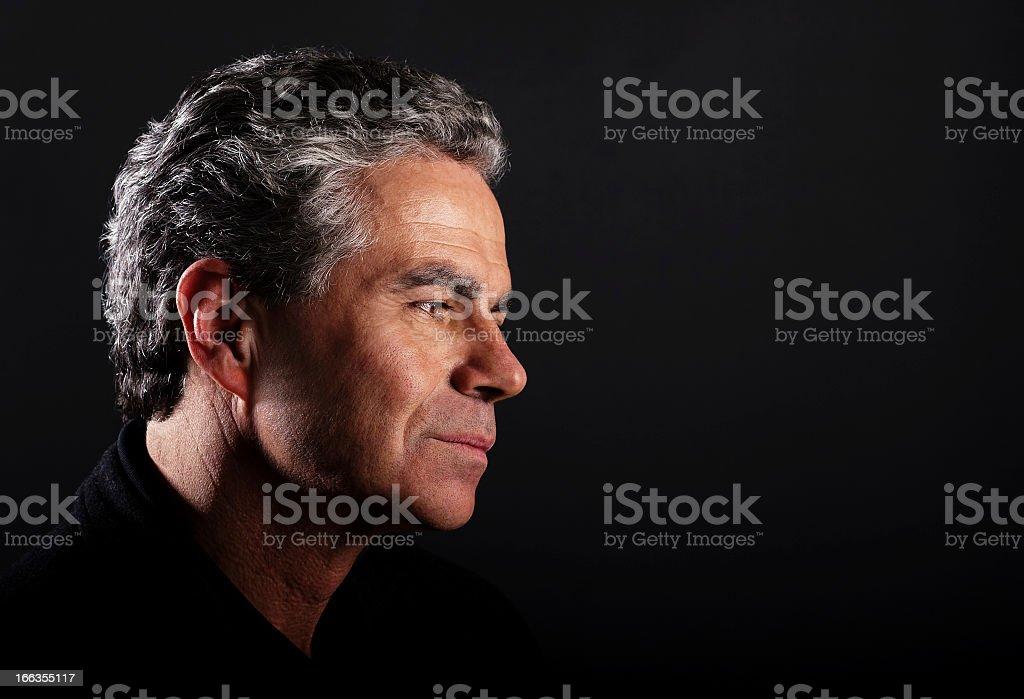 Pensive Male Portrait royalty-free stock photo