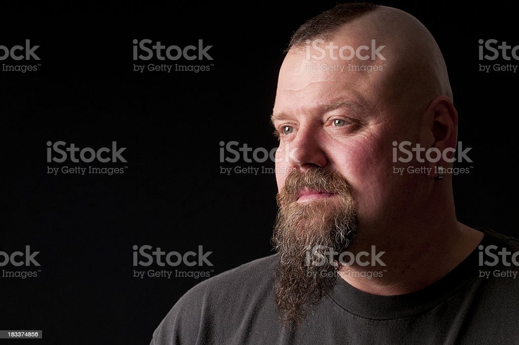 pensive man with mohawk royalty-free stock photo