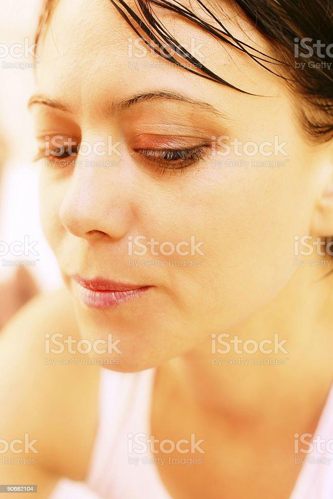 Pensive stock photo