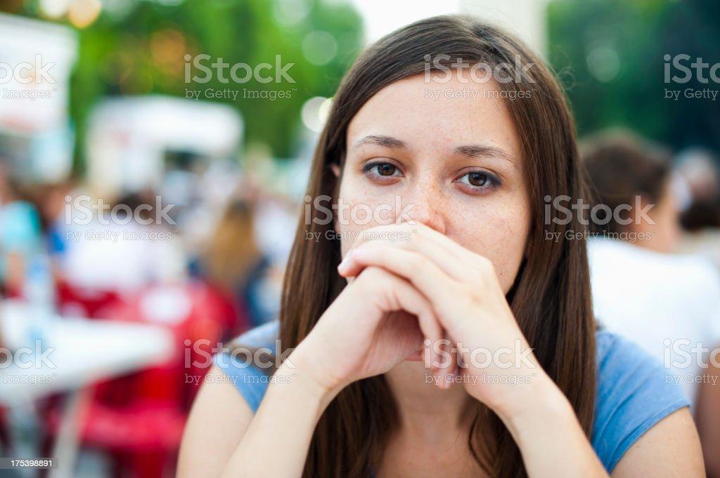 Pensive Portrait royalty-free stock photo