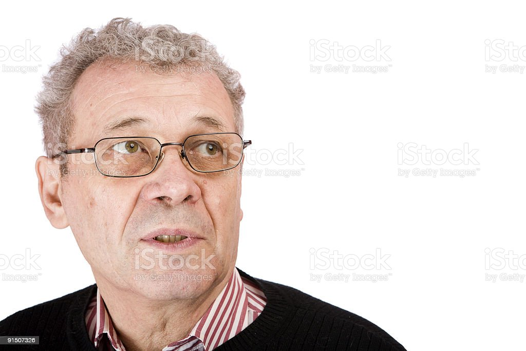 Pensive senior man royalty-free stock photo
