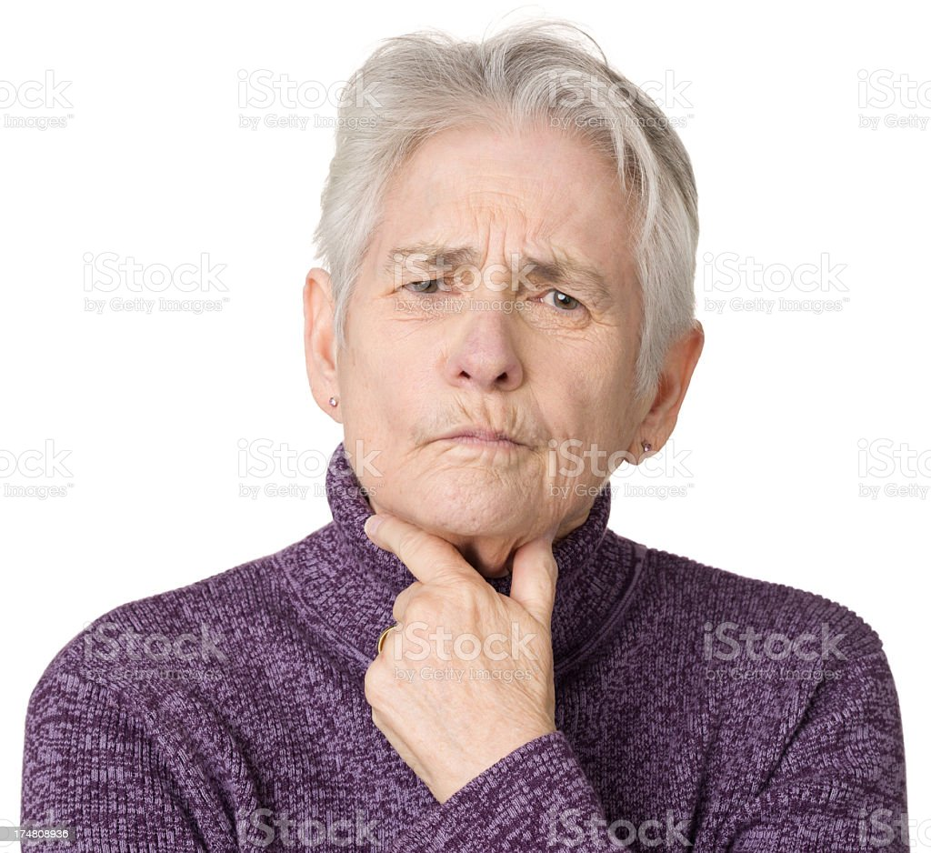 Pensive Senior Woman royalty-free stock photo