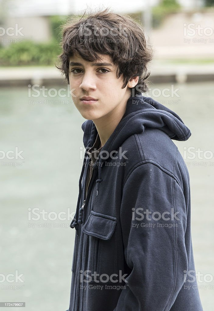 Pensive Teenager royalty-free stock photo