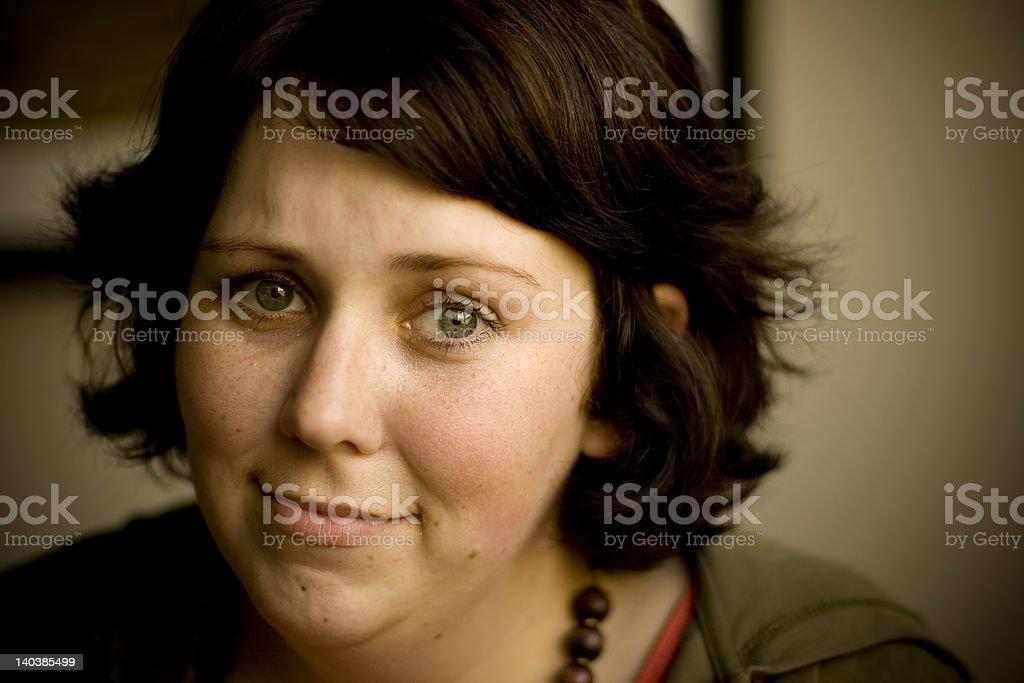 Pensive Woman stock photo