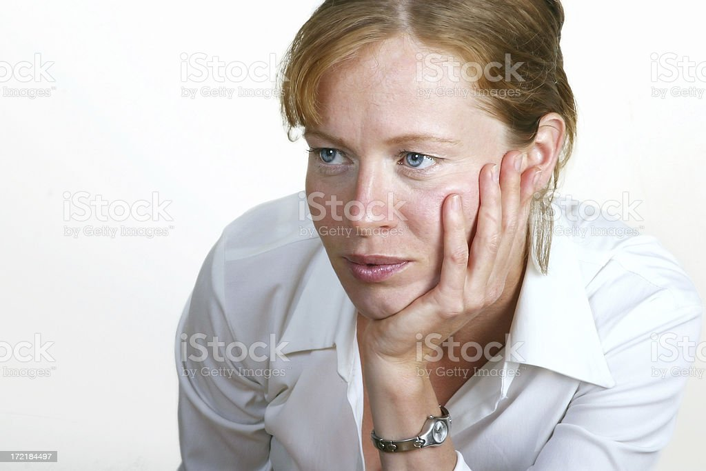 Pensive woman... royalty-free stock photo