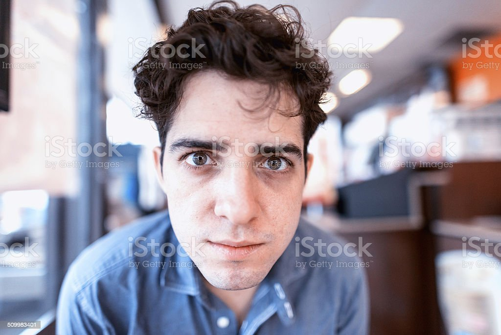 Pensive young man royalty-free stock photo