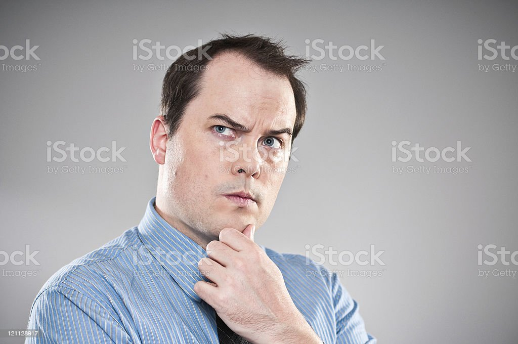 Pensive Young Man Portrait stock photo
