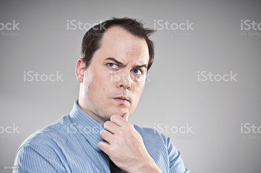 Pensive Young Man Portrait stock photo