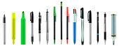 Pens,pencils,highlighters