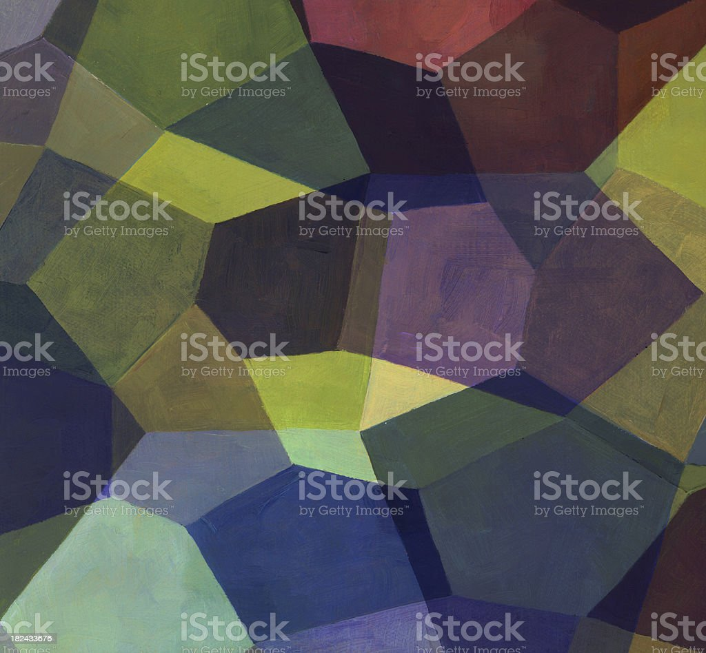 Pentagon Abstract Painting royalty-free stock photo