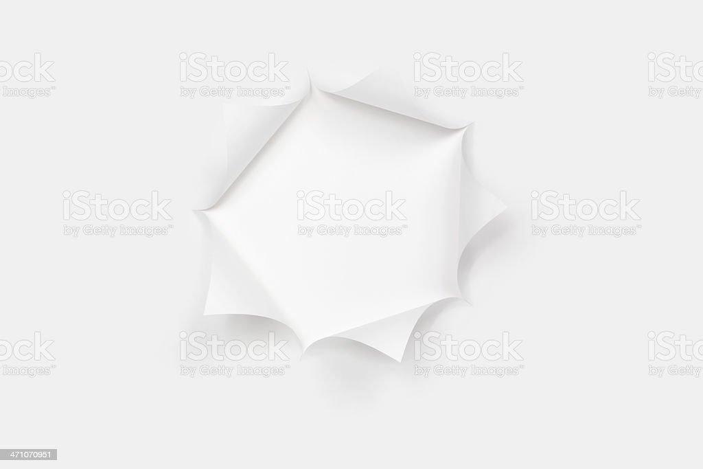 Pentagon Cut Paper Star Burst Hole - Straight On stock photo