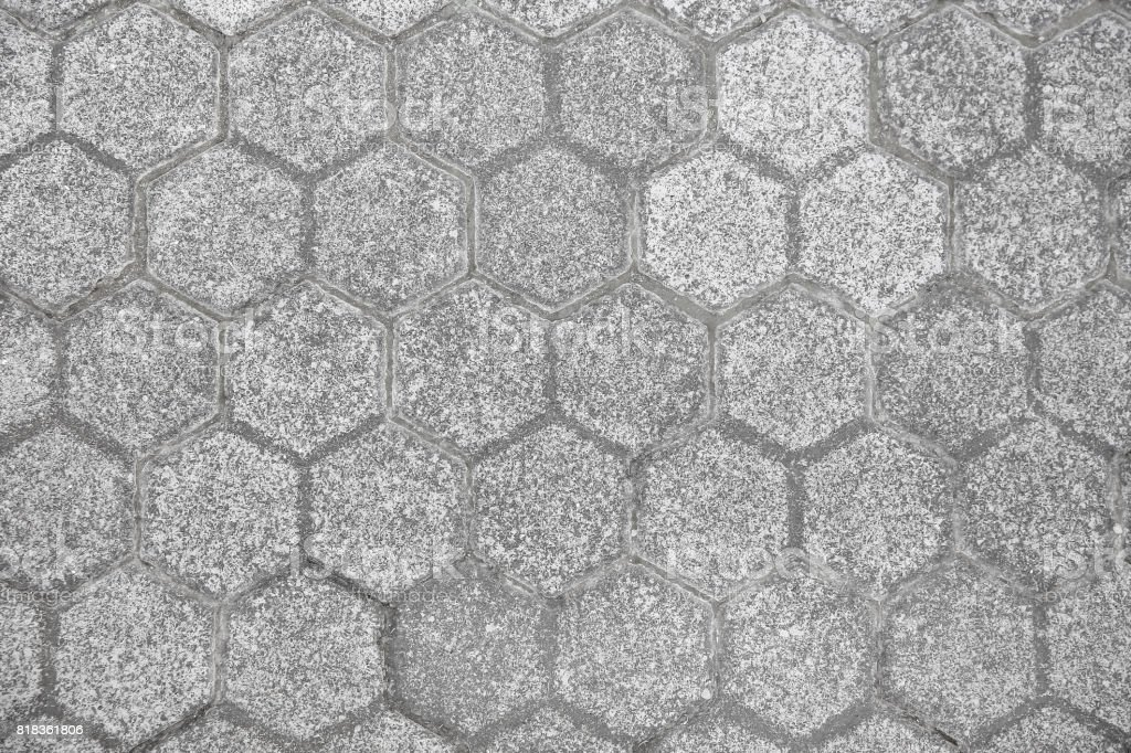 Pentagon paving block texture stock photo