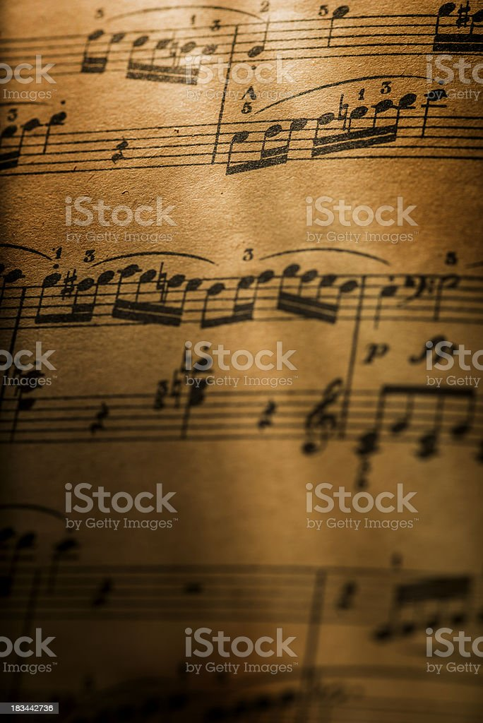 Pentagram and musical notes stock photo