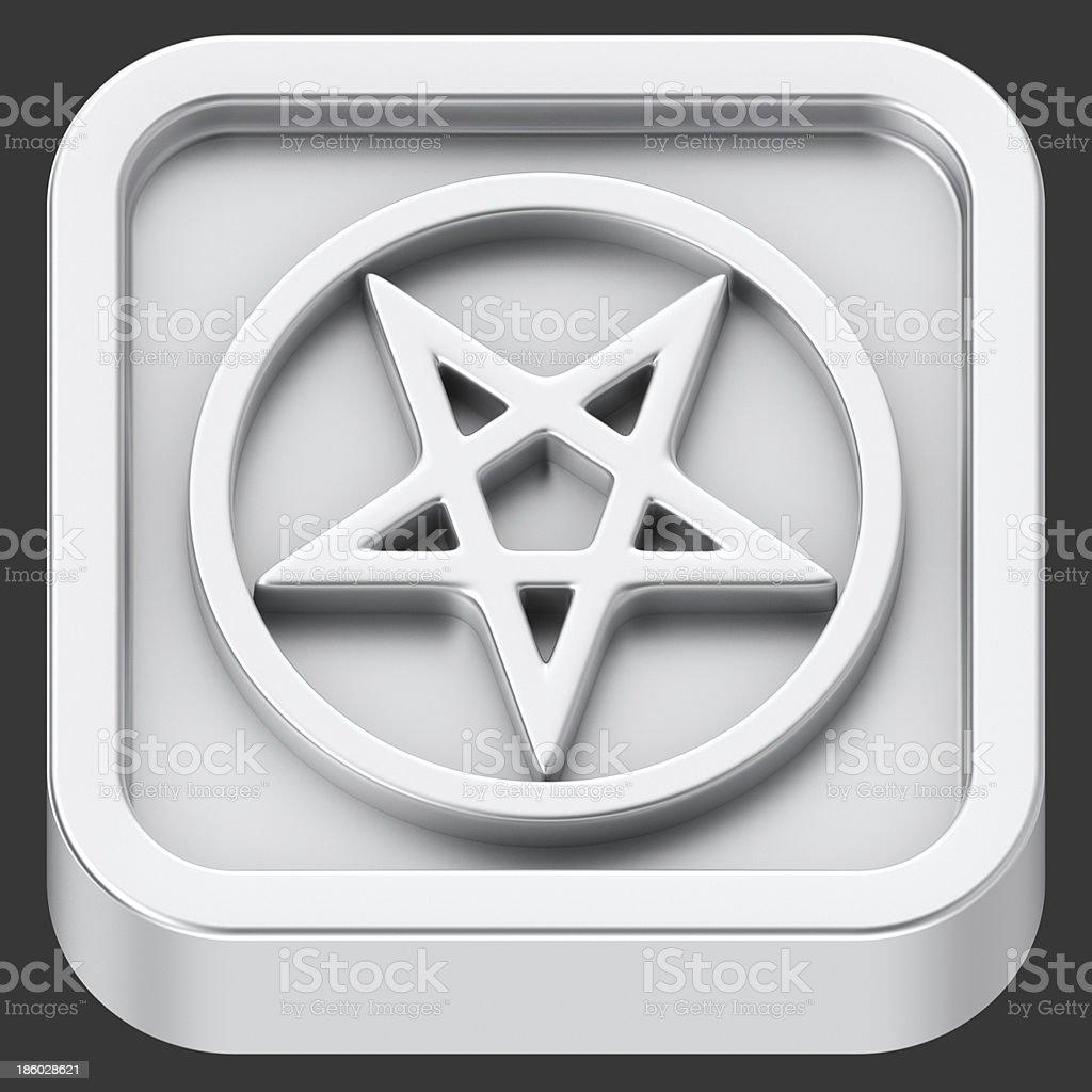 Pentagram app royalty-free stock photo