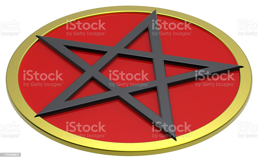 Pentagram isolated on white. royalty-free stock photo