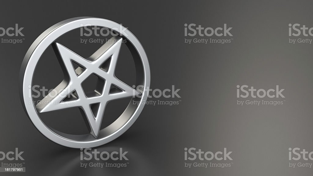 Pentagram on black stock photo