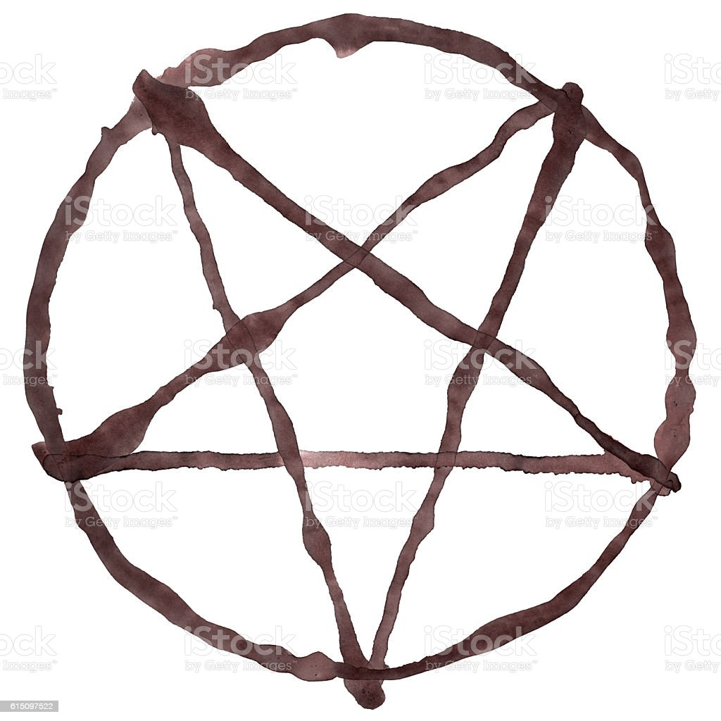 Pentagram Symbol Isolated On White stock photo