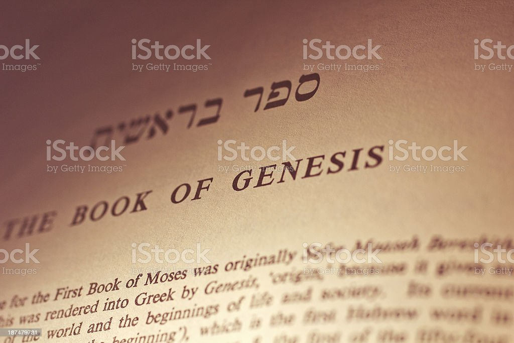 Pentateuch: Genesis royalty-free stock photo