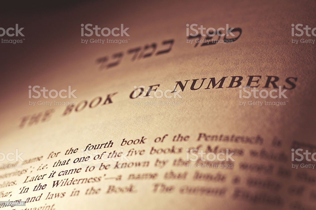 Pentateuch: Numbers stock photo