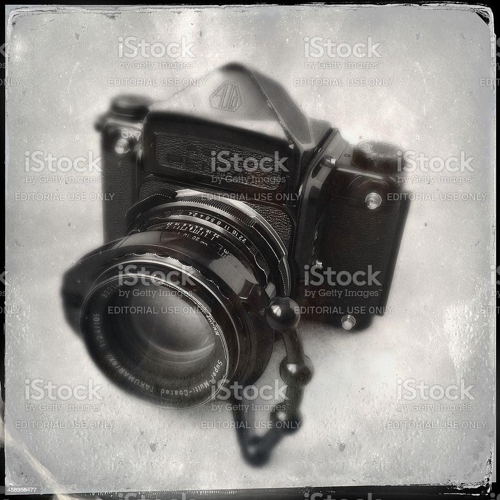 Pentax 6X7 Medium Format SLR Film Camera Body royalty-free stock photo