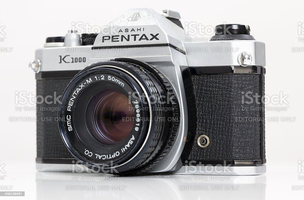 Pentax K1000 Camera stock photo