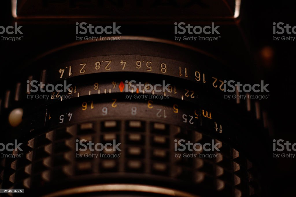 Pentax lens stock photo