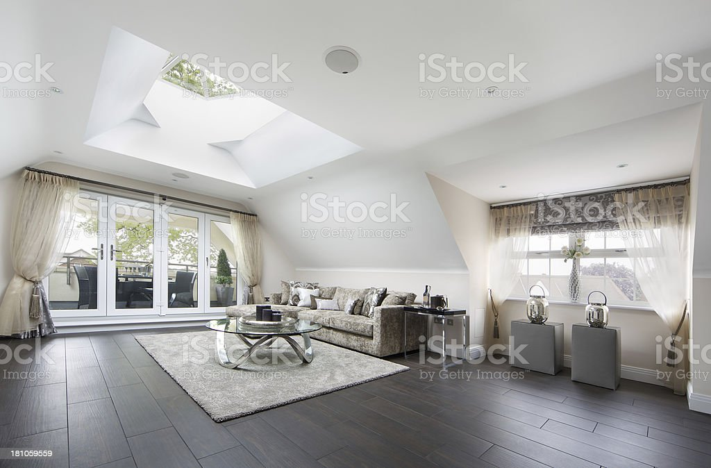 penthouse apartment lounge stock photo